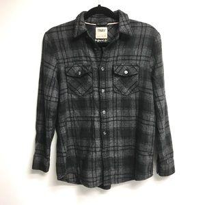 ARITZIA Tna Boyfriend Fit Plaid Button Front Shirt